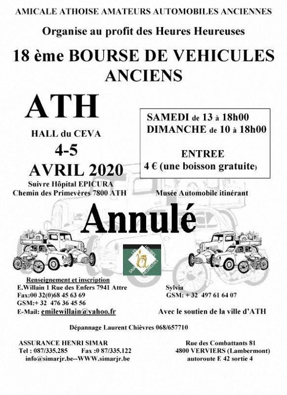 Annulation affiche bourse 2020