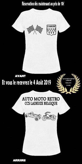 T shirt ccs vente couronne 30 ans v 2019